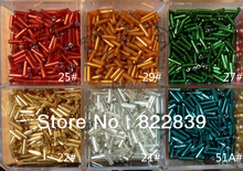 2*6MM 60g 1320pc/lot Colors Silver Core Czech Glass Seed Bugle Beads Loose Bead Jewelry Accessories