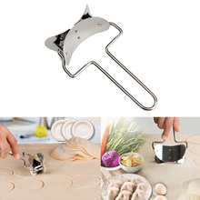 Stainless Steel Dough Press Dumpling Pie Ravioli Mould Maker Cooking Pastry Tools Circle Dumpling Device Dumpling Making Machine