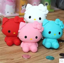 (10 Pcs/Lot) Kawaii Hello Kitty Silicone Zipper Travel Small Hasp Storage Bag 5 Color Option