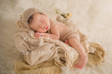 Newborn Mohair Romper With Hat Newborn Dress Newborn Clothes Baby Hand Knitting Pants With Bonnet Photography Props