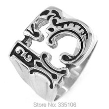 Free Shipping! Lucky 13 Ring Motor Biker Ring Stainless Steel Jewelry Fashion Punk Motorcycles Ring Ring SWR0132A