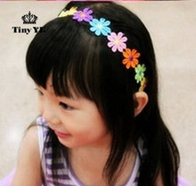 Colorful Flower Kids Hair Accessories Children Headwear Girls Headband Hair Decoration Kids Princess Cute Hair Band