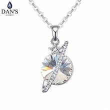 DAN'S Element Brand Hot 5 Colors Real Austrian Crystals Fashion Star Planet Pendant Necklace for Women Valentine Gift 127255(China)