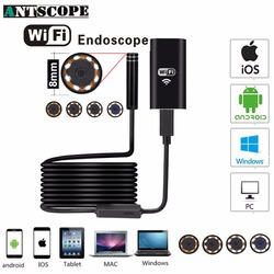 Antscope полу неподвижно закрепленная жесткая трубка iOS эндоскоп камера Android 720 P iPhone бороскоп Водонепроницаемая камера эндоскопическая Wifi боро...