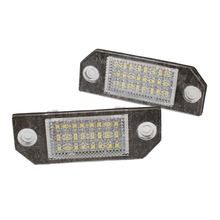 2Pcs 24 LED Car Signal Light 12V 3W 6500K Auto Number License Plate Light Lamp for Ford Focus C-MAX(China)