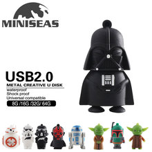 2016 Miniseas Real Capacity Usb Flash Drive War Star 8GB 16GB 32GB Memory Usb Stick 2.0 Pen Drive Pendrive For PC(China)