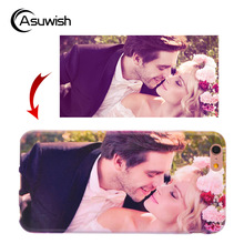 Asuwish Custom Silicone Phone Case For Apple For iPhone X 8 7 Plus 6 6S Plus 6p 5 5s SE 5c 4 4s S DIY Name Soft Case TPU Cover