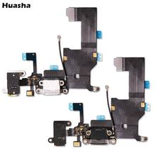 10Pcs/lot Charger Charging port Dock USB connector Data flex cable For iphone 5 5G ribbon replacement Parts