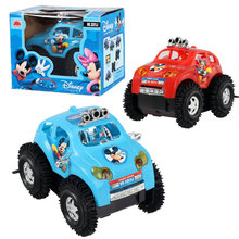 2017 New Electric tipcart children electric toy car will turn a somersault Stunt Car stall selling toys(China)