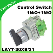 Control Switch LAY7-20XB/31 22mm 1N/O+1N/O Rotary Switch 50/60Hz selector switch(China)