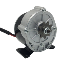 MY1016Z3 DC Gear Motor 24V 36V 350W Brushed Motor Rated Speed 3000rpm with 9 Tooth Sprocket Fit for Electric Bike