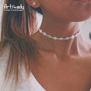 Artilady antique argent métal choker collier punk étoiles conception colliers pour les femmes parti bijoux cadeau