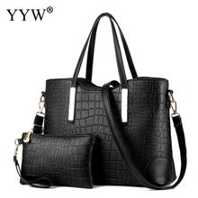 Alligator Casual Tote Bags Set Buy 1 Get 2 Women's PU Leather Handbags Famous Brand Lady's Clutch Bag Luxury Women Crossbody Bag(China)