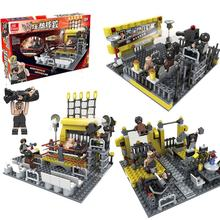 279PCS Classic Wrestling Challenging Gym Sport Club The Wrestler Athlete Figure Building Blocks Bricks For Boy's Toy