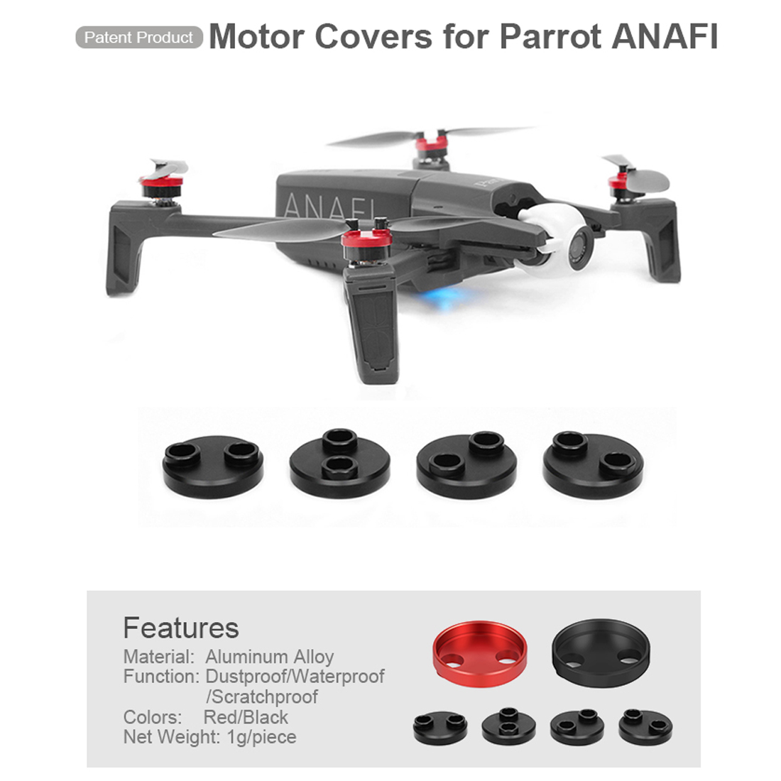 4x For Parrot Anafi Metal Motor Covers Dustproof Protective Cover Accessories