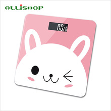 ALLiSHOP cute intelligent bathroom scales 180kg/400lb quality large balance Temperature BMI index Difference comparison scale