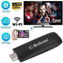 Mirascreen 2.4G WiFi Display Receiver TV Stick 1080P Audio&Video DLNA Airplay Miracast Display Dongle for Google Chromecast 2(China)