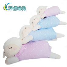 6pcs/lot Unique Gifts 14'' Sleeping Sheep Plush Toy Lamb Doll Appease Baby to Sleep Stuffed Toy Baby Doll Gift for Kids