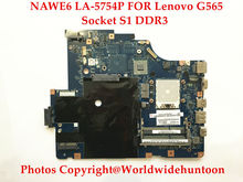 Original laptop motherboard for Lenovo Ideapad G565 NAWE6 LA-5754P AMD Socket S1 DDR3 Fully tested and Free shipping