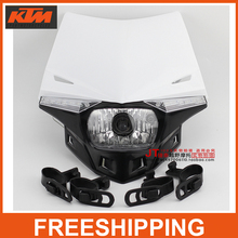 motorcross Racing Bike Dirt Bike Head Light h4 Lamp Street Ghost Fighter Universal Modify Parts To CRF WR RMZ KLX Free Shipping(China)