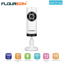 Buy Floureon Mini Wireless Wifi Baby Monitor Camera Infant Baby Monitor Video Security Two-way Talk IP Camera + 8GB TF Card for $24.99 in AliExpress store