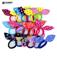 YWHUANSEN 20pcs/lot Rabbit ears Hair band Children Hair Accessories kids Scrunchy Elastic Hair Band for women girls rubber band