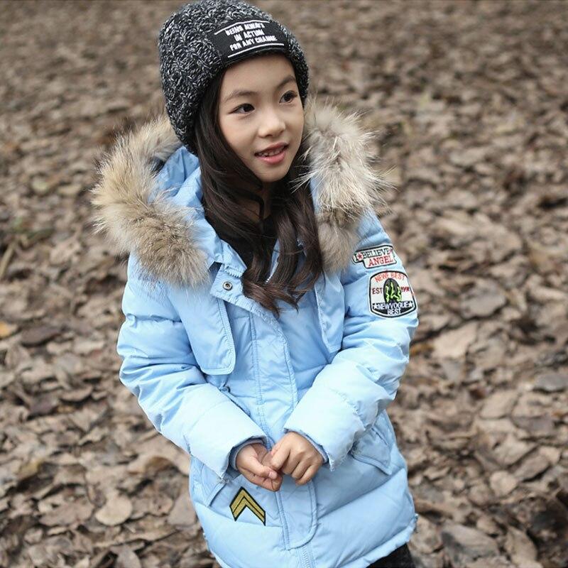 Thick Winter Children Jackets Girls  Coats Hooded Faux Fur Collar Kids Outerwear Cotton Padded Baby Girl Boy Snowsuit For 5-12TÎäåæäà è àêñåññóàðû<br><br>