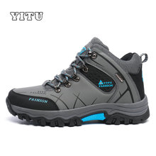 Plus Size 39-45 46 47 Brand Hiking Shoes Men Spring Hiking Boots Mountain Climbing Shoes Outdoor Sport Shoes Trekking Sneakers(China)