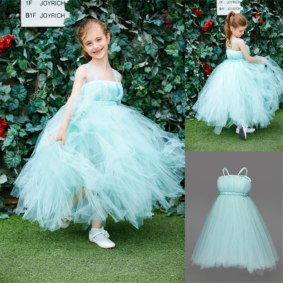 Princess Flower Girls Ball Gown Dress For Wedding/Birthday/Party With Ribbons Real Photo Baby Girls Tutu Tulle Dress PT33<br><br>Aliexpress