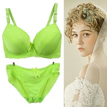 Xiushiren Girls Lace Bra Briefs Push Up Green VS Bras Women's Sexy Lingerie Bra Set Black White Beige Red Blue Rose Grey UB0041