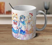 Sailor Moon Mug cup home decal milk beer cups procelain tea cup ceramic coffee mugs tea mugs drinkware(China)