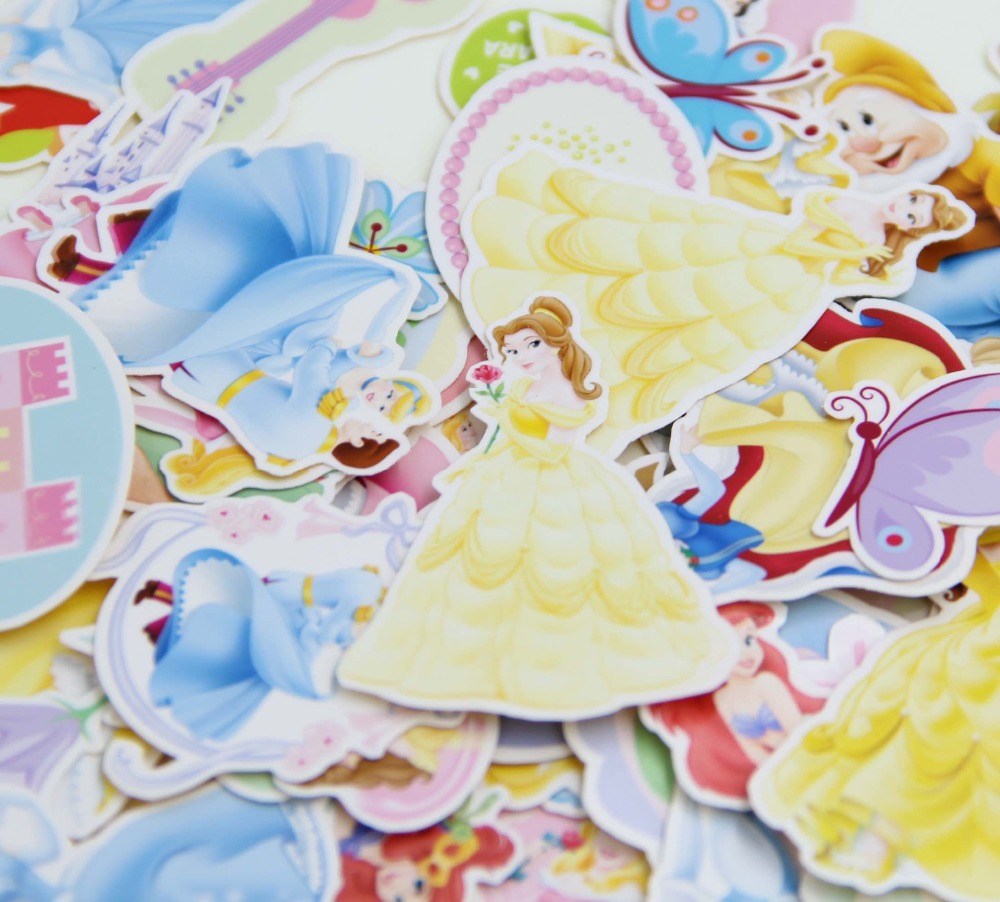 60pcs No Repeat Self-made Princess Fairy Tale Scrapbooking Stickers DIY Craft DIY Sticker Pack Photo Albums Deco Diary Deco<br><br>Aliexpress