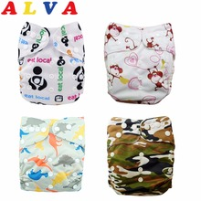 2016 Alvababy U Pick One Size Fits All Reusable Alva Cloth Diaper for Baby with 1pc Microfiber Insert