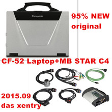 Newest MB STAR Compact4 SDConnect c4 Wireless+ CF-52 Laptop with 2015.09 das xentry for Mercedes Benz car truck diagnostic tools