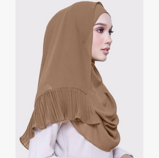 Muslim women chiffon Patchwork headscarf high quality head coverings drape stitching hijab Islam girl's cap big size 11