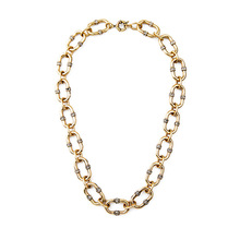 2016 New Fashion Bijoux Store Modern Designer Jewelry Endless Pave Link Necklace Brand  Gold Link Chain Necklace for Women