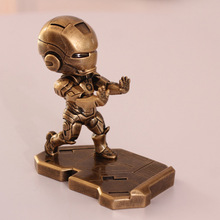 2 Types Resin 1PCS Imitation Copper and Iron 12cm DC Comics Ironman Action Figures Models Toy Car Decoration Collection