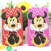 3D Mickey Minnie Case for Microsoft Lumia 520 Cover Phone Case Back Cover for Nokia Lumia 520 525 526 Case Silicone Coque Fundas