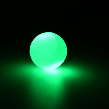 Newest Day and Night Golfing Practicing Small Light Up Flashing Glowing LED Electronic Golf Balls 1PC(China)
