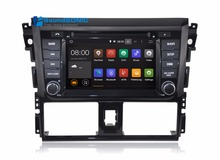Pure Android 5.1.1 System HD Screen For Toyota Yaris Vios Sedan 2014 2015 Car DVD GPS System Car Stereo System Media Multimedia(China)