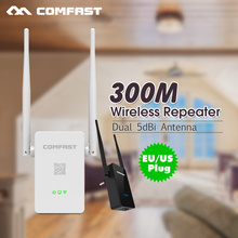 2PCS 300Mbps WIFI Repeater Wireless-N Wifi Router signal Amplifier/ signal booster with 2x5dBi WIFI antenna CF-WR302S EU/US plug