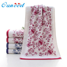 Ouneed Bath Towel 34*74cm Soft Cotton Flower Face Towel Bamboo Fiber Quick Dry  hair hand Towels  quanlity first