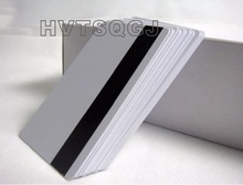 300pcs free shipping Hico Magnetic Strip Plastic Cards Cheap Inkjet Printable PVC Card(China)