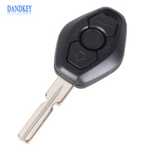 Dandkey 3 Button Fob Car Key Shell Remote Key Replacement Case for BMW 3 5 7 SERIES Z3 Z4 X3 X5 M5 325i E38 E39 E46 with logo