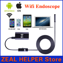 Wifi Endoscope Camera 8mm lens 5m Cable Snake Pipe inspection HD720 Camera Android Iphone Smart Phone underwater camera fishing