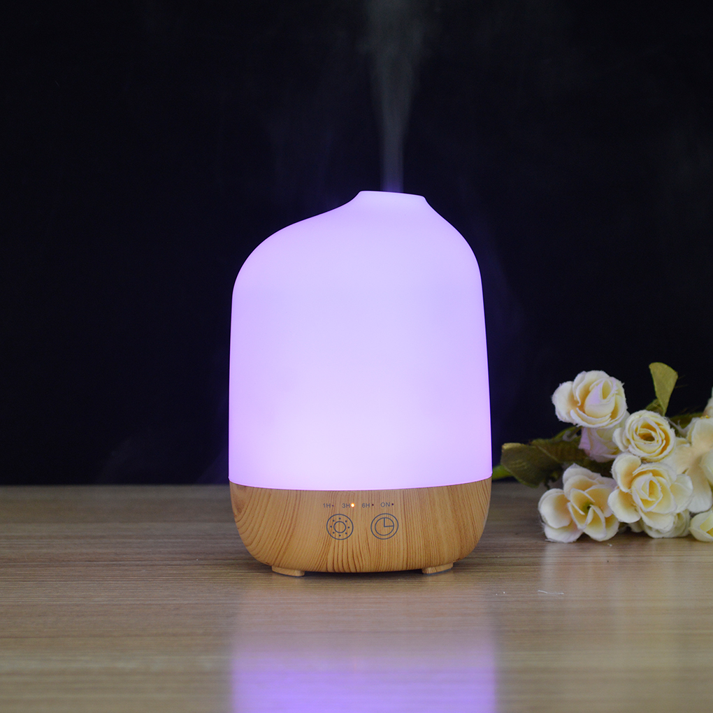 Wood Grain Ultrasonic Mute Fragrance Essential Oil Incense Burner Humidifier Aromatherapy Diffuser Purifier<br>