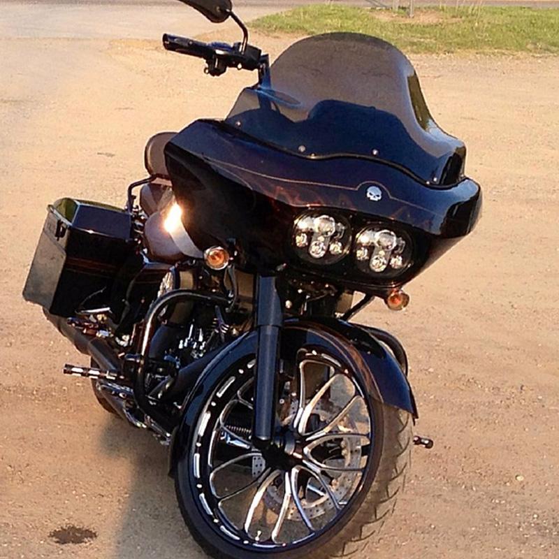 FADUIES 5.75 inch dual LED headlamps Harley Motorcycle 5 34 90W Led Motorcycle headlight For harley-davidson Road Glide dual (29)
