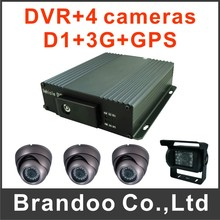 4CH CAR DVR kit With 3G GPS Function For Bus Taxi Truck Used
