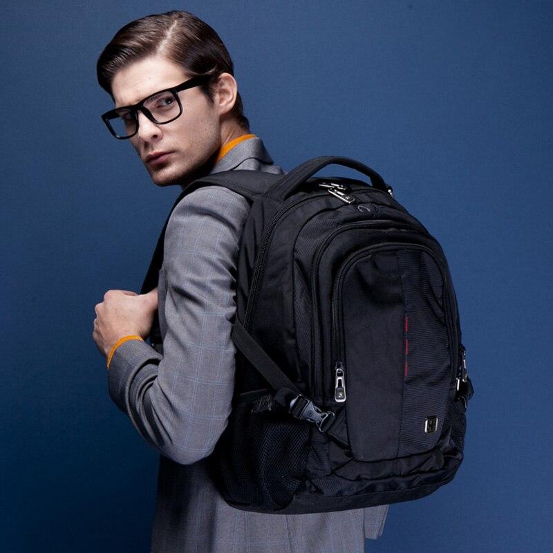 Swiss army Suissewin Brand Men Laptop Backpack Bag  Orthopedic Backpack Male  Backpack For Teenagers Rucksack mochila escolar<br>