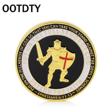 OOTDTY Gold Plated Armor of God Commemorative Challenge Non-currency Coin Collection Collectible two sides Better 6 styles